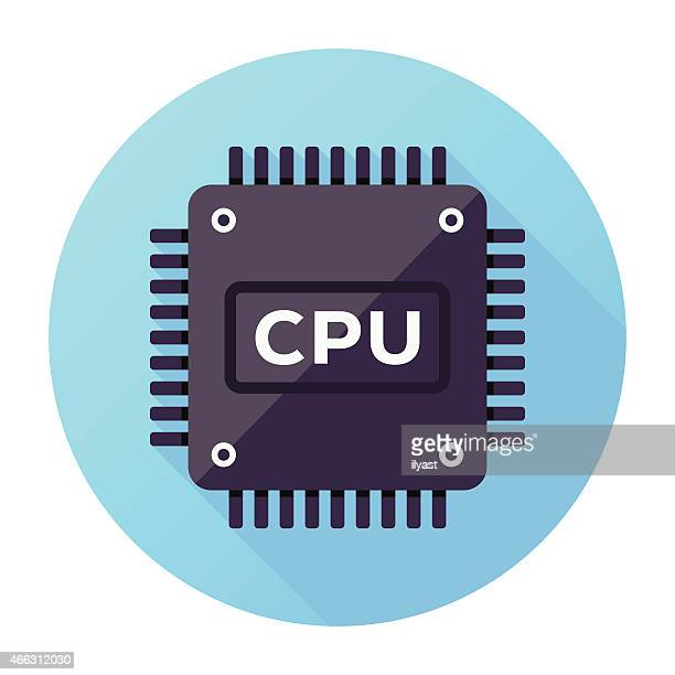 cpu icon - computer chip stock illustrations