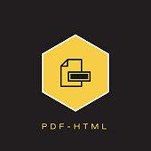 PDF-HTML Icon