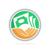 icon vector illustration with concept of fundraising, business loan money, save money, and other financial management