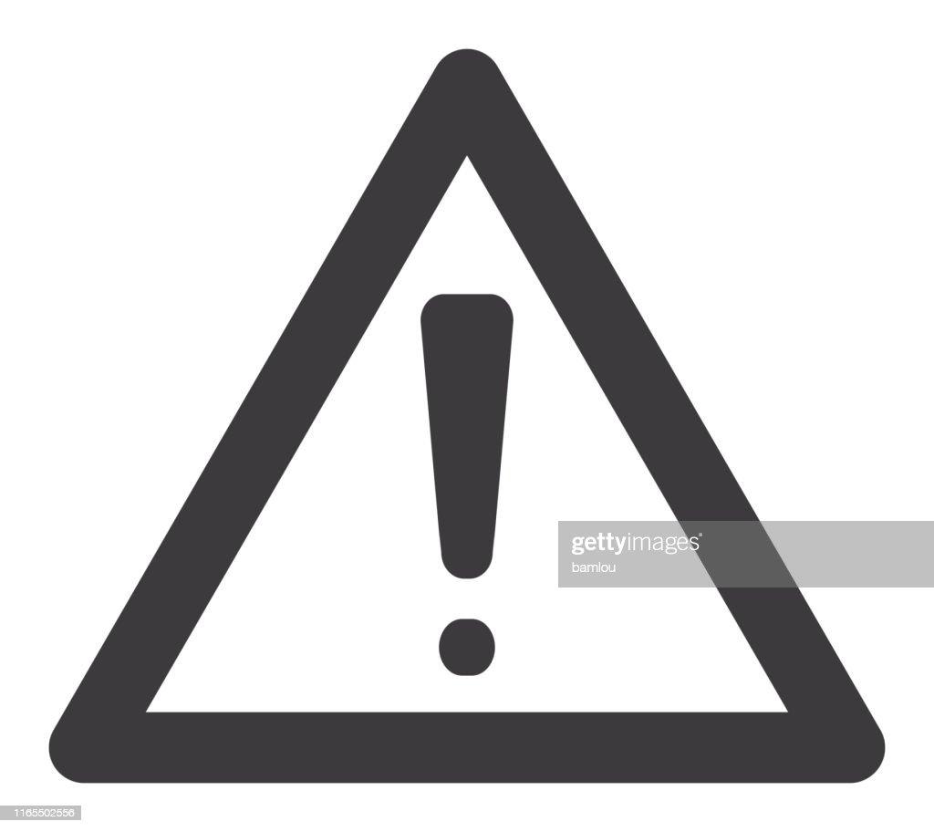 Icon Warning Sign : Stock Illustration