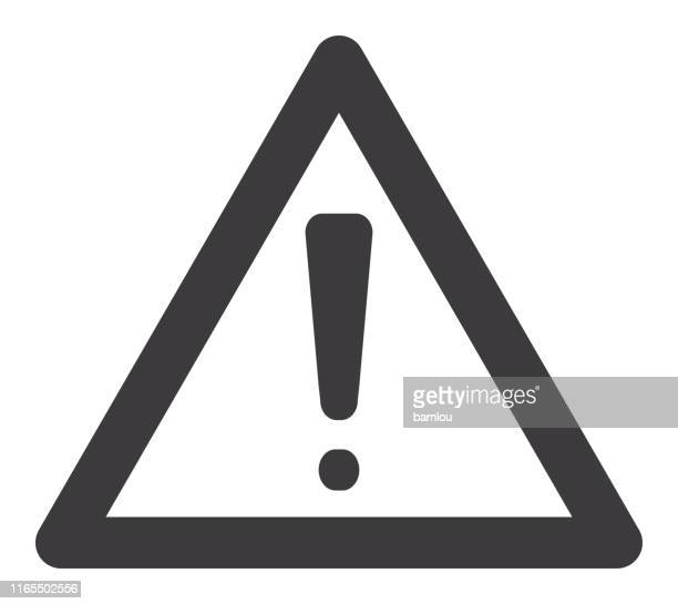 icon warning sign - alertness stock illustrations
