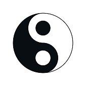 icon Yin-Yang, vector illustration.