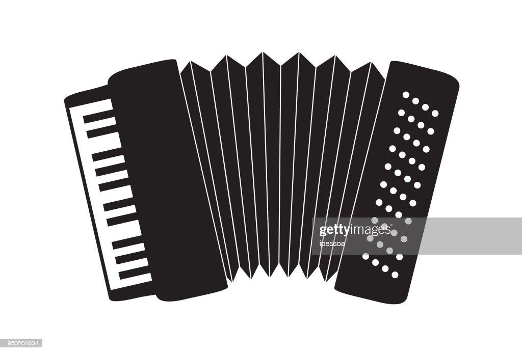 icone de acordeão sanfona forró tango valsa no fundo branco