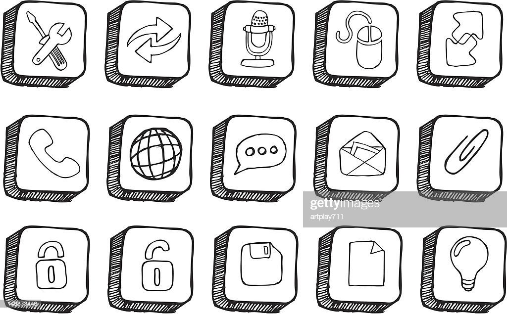 Iconic Button Doodles