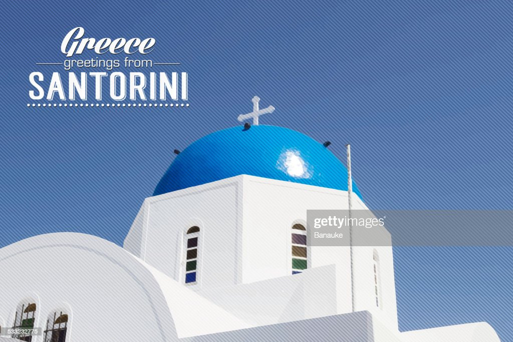 Iconic church with blue cupola