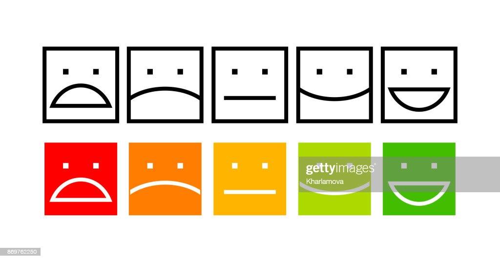 Iconic illustration of satisfaction level