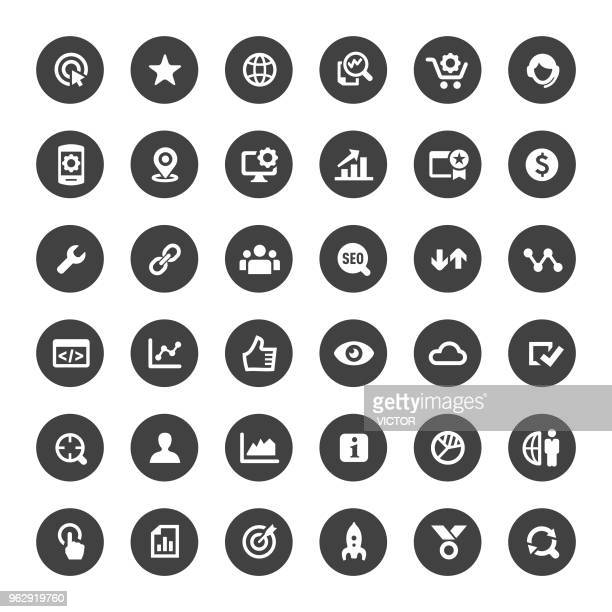 SEO Icons - Big Circle Series