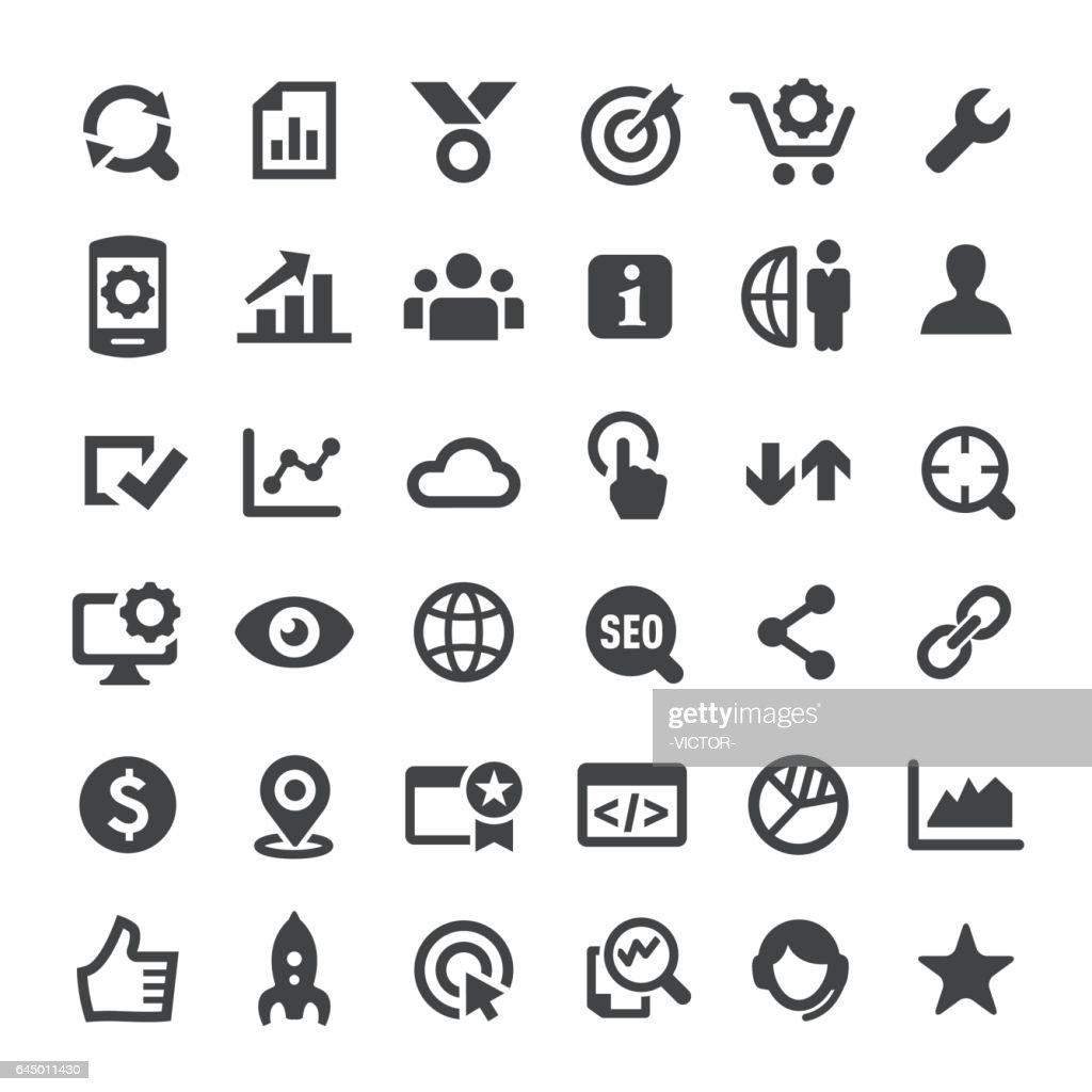SEO Icons - Big Series : stock illustration