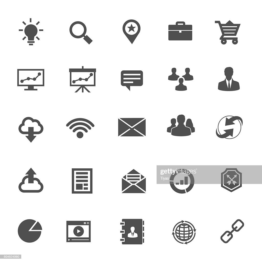 icons business : stock illustration