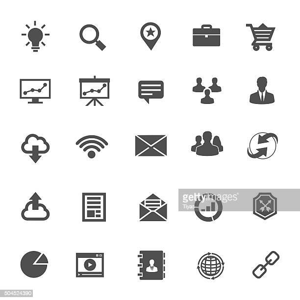 icons business - online advertising stock illustrations, clip art, cartoons, & icons