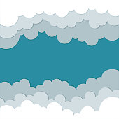 Icons cloud for your design. space for text. flat illustrations