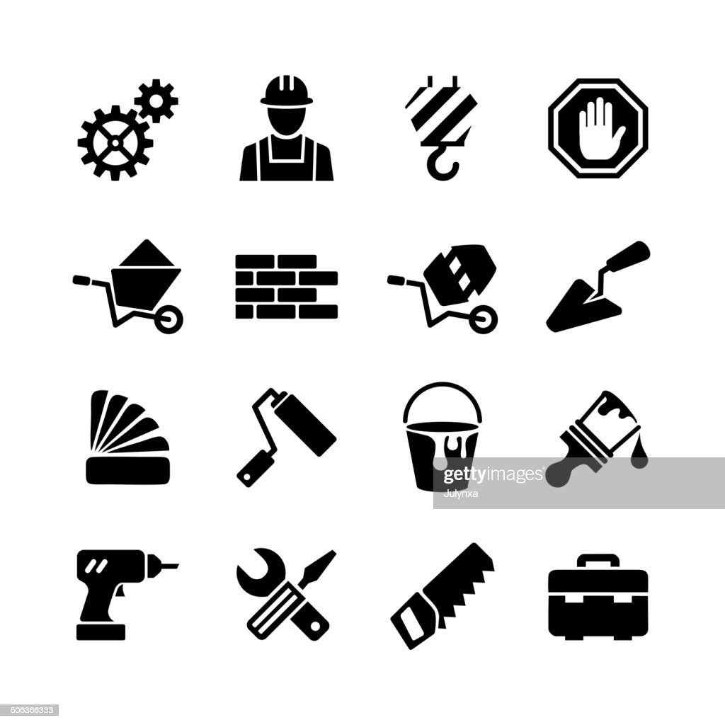 Icons collection - building, construction, repair and decoration