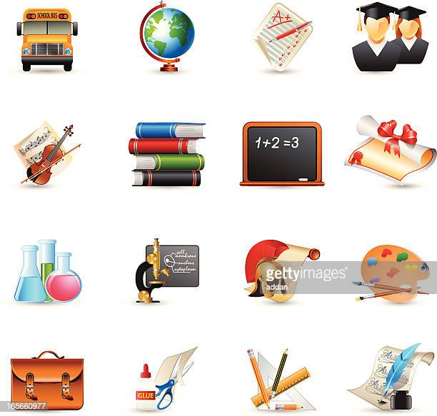 icons - education - school child stock illustrations, clip art, cartoons, & icons