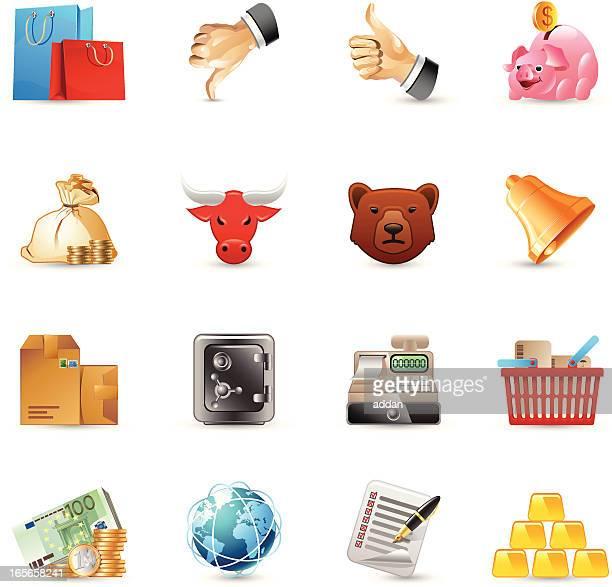 icons - finance - european union euro note stock illustrations, clip art, cartoons, & icons