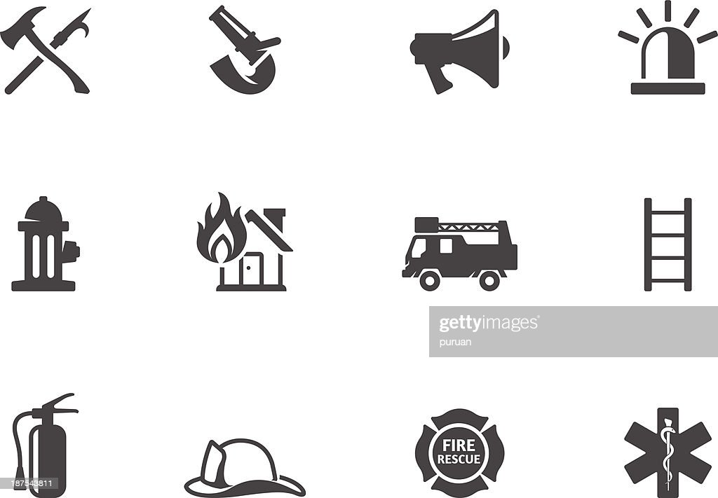 BW Icons - Fire Fighter