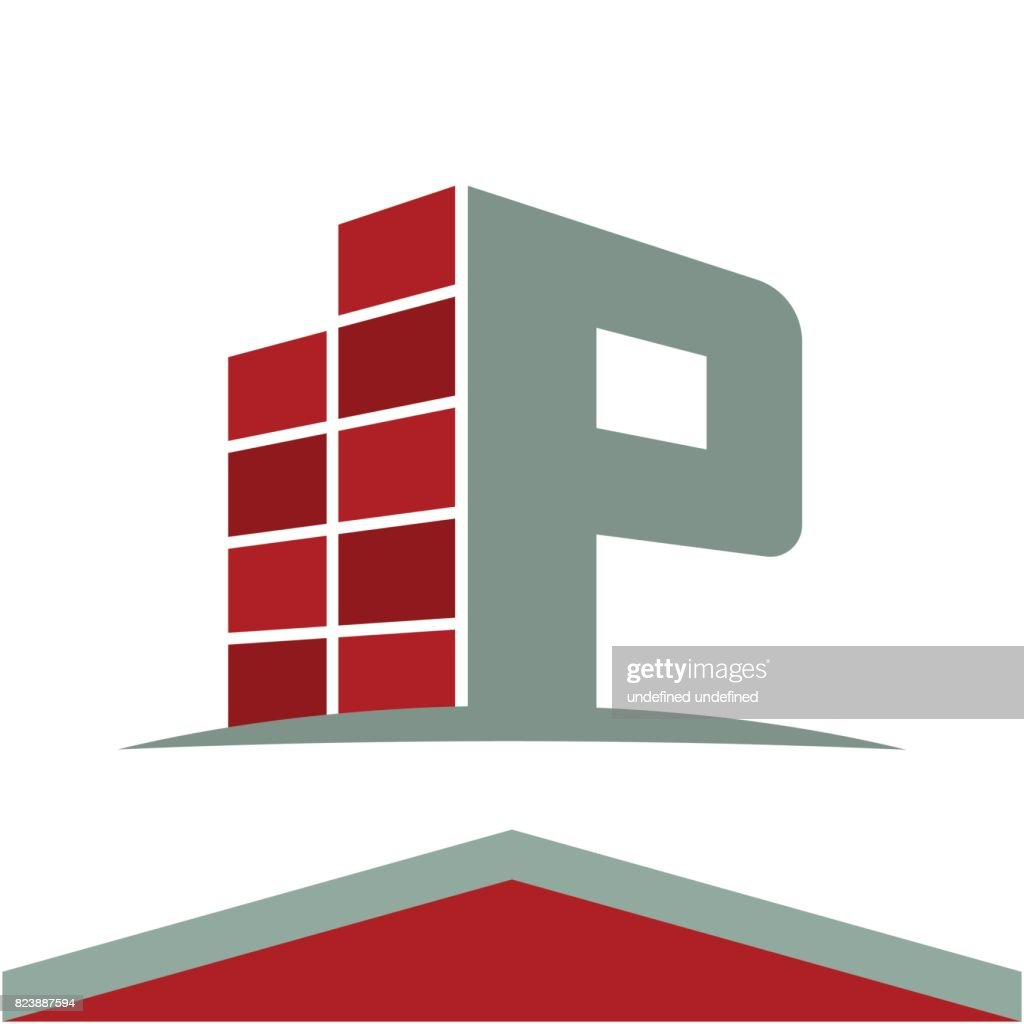 Icons For Construction Business Symbol With The Initials Letter P