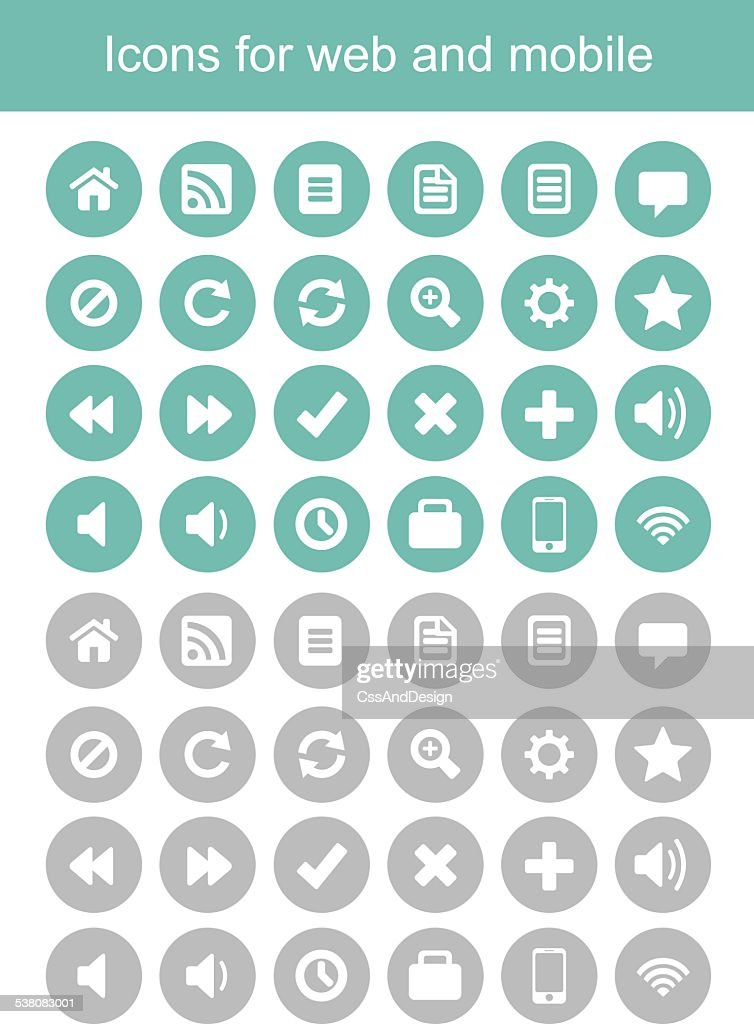 icons for web and mobile, icons vector