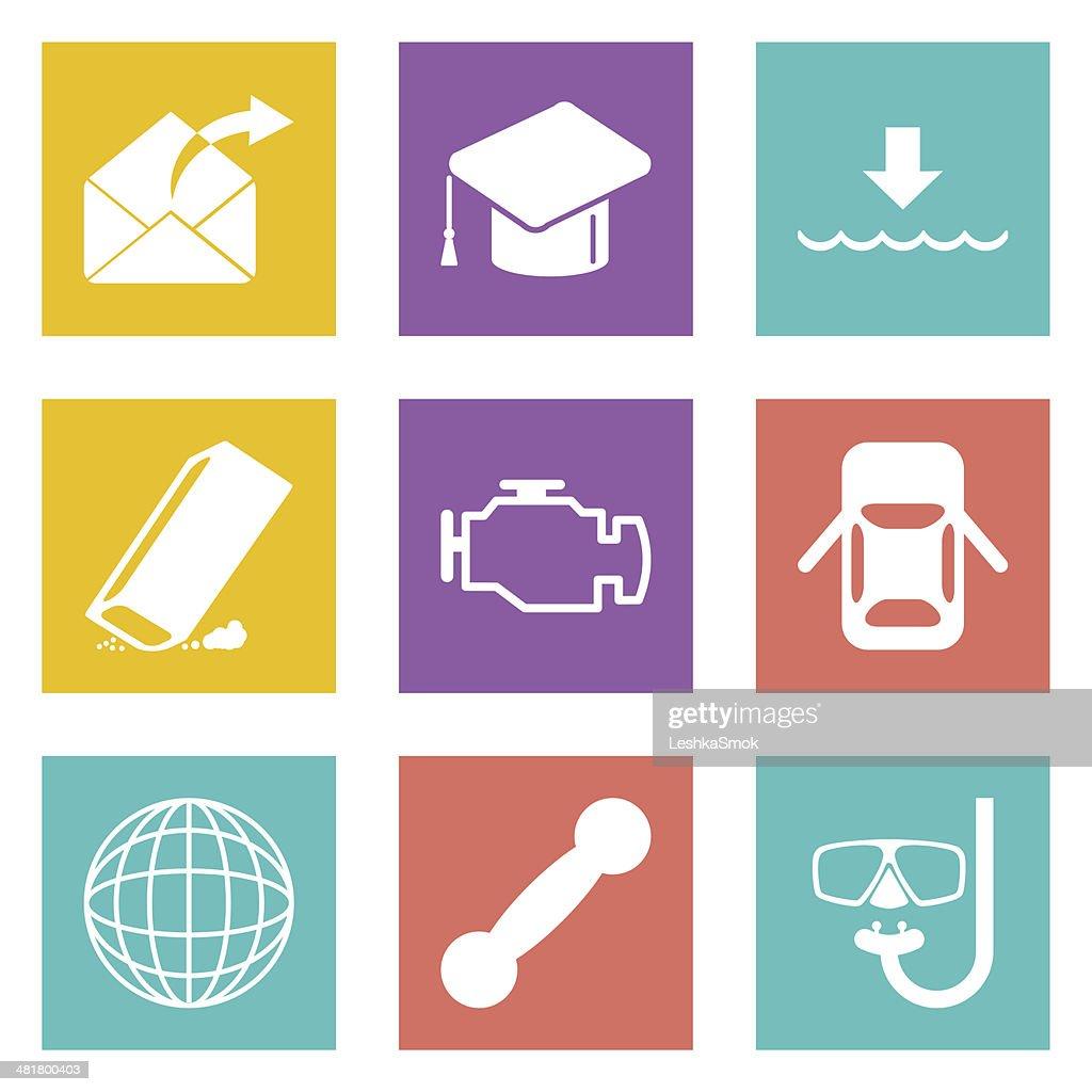 Icons for Web Design set 17