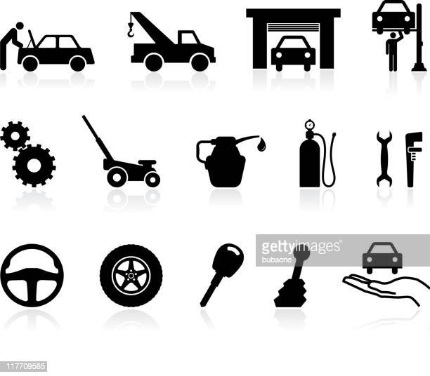 icons having to do with auto repairing - vehicle hood stock illustrations, clip art, cartoons, & icons