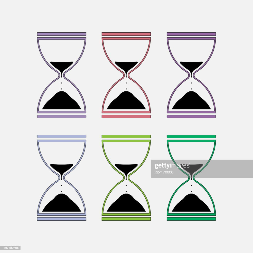 icons hourglass, time measurement