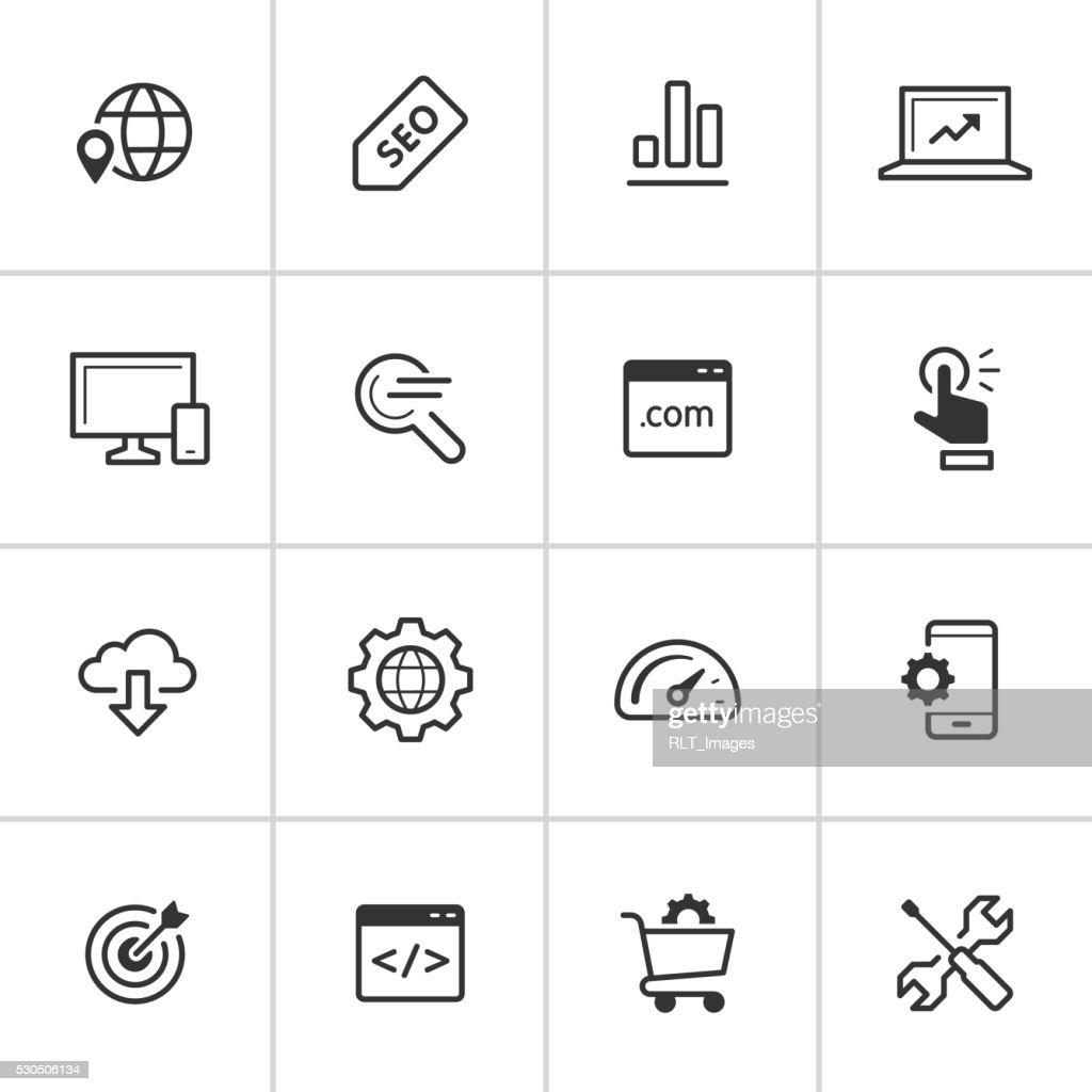 SEO Icons — Inky Series