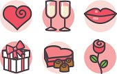 icons: love and romance