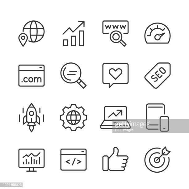 seo アイコン — モノライン シリーズ - ワールド・ワイド・ウェブ点のイラスト素材/クリップアート素材/マンガ素材/アイコン素材