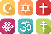 Icons of different religions