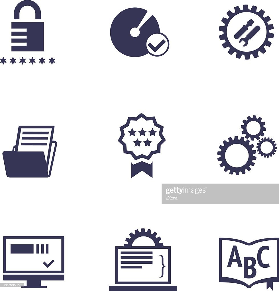 Icons of different services of IT company