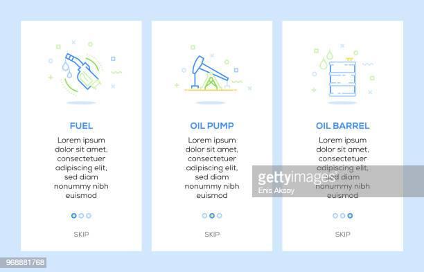 illustrations, cliparts, dessins animés et icônes de icônes de carburant, d'huile pompe, baril de pétrole. huile industrie concept web éléments - fuel pump