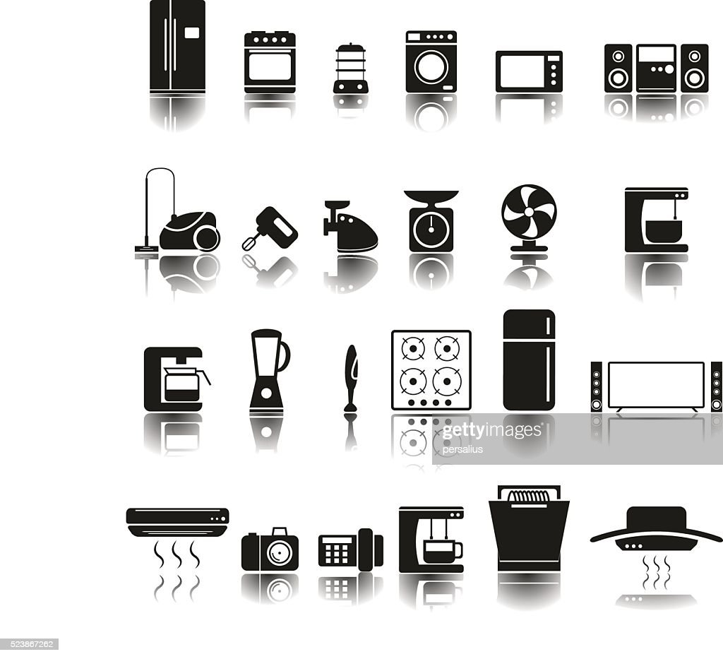 24 Icons of home appliances