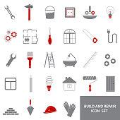 icons of  repair  tools, house remodel