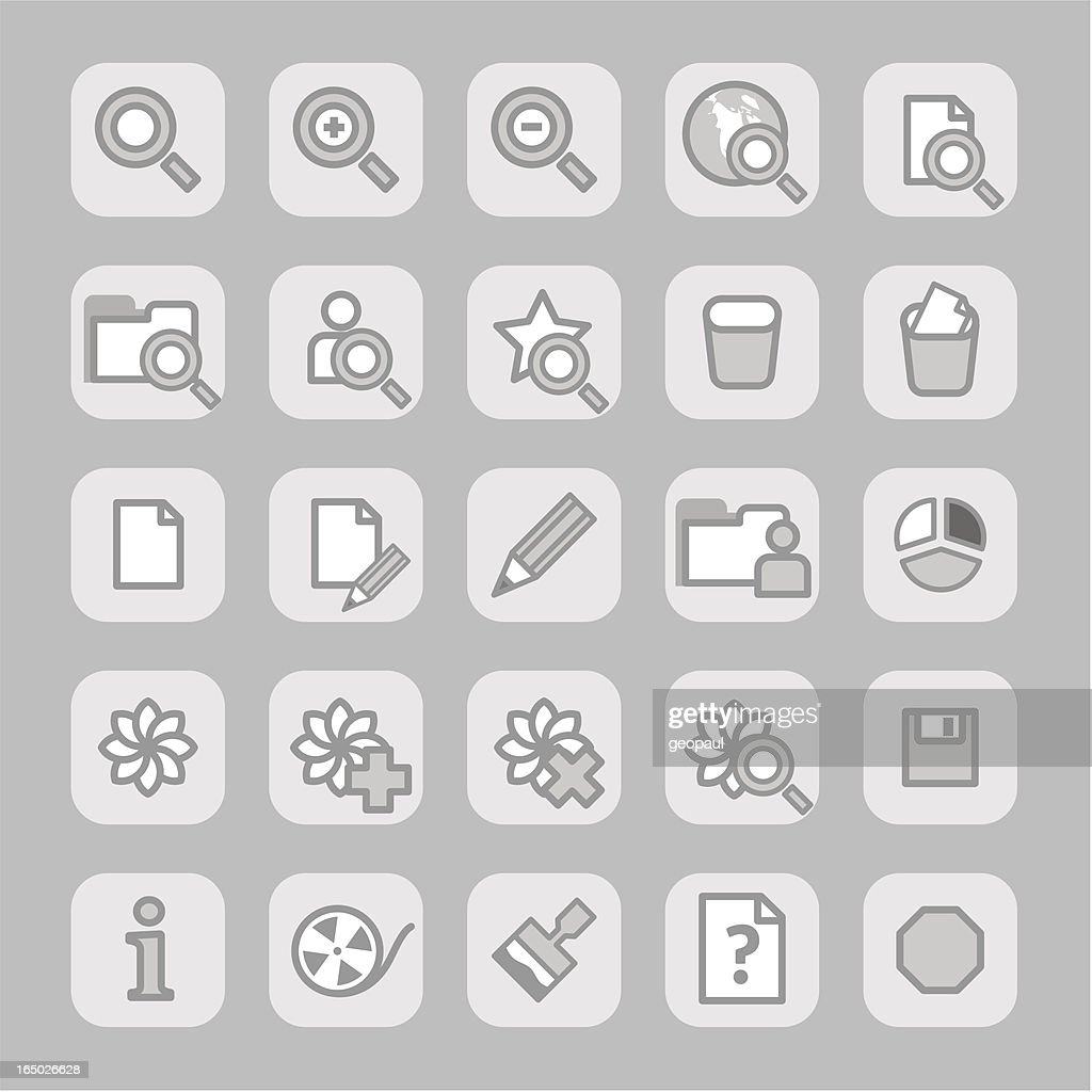 Icons (grey)  - set 3