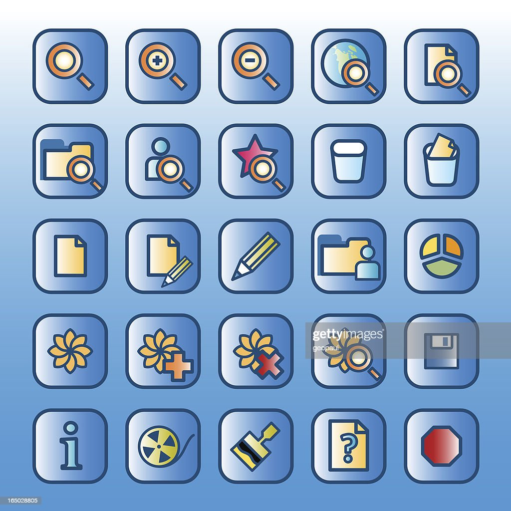 Icons (blue)  - set 3