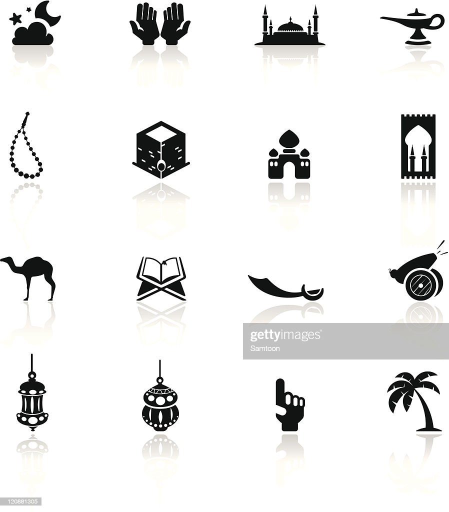 Icons set Arabian