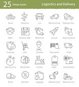 Icons set for shipping and delivery