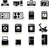 icons set home devices