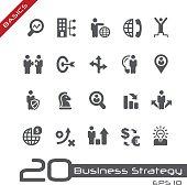 Icons Set of Business Strategy - Basics