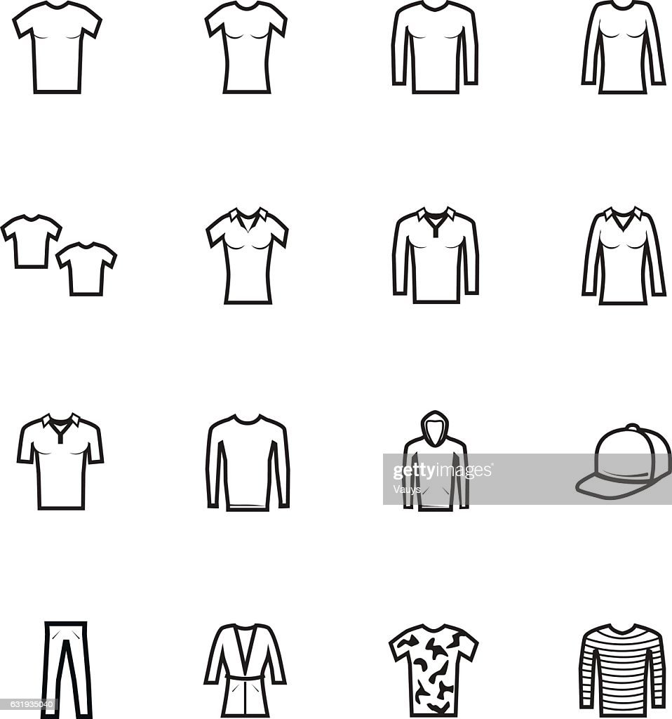Icons set of clothes