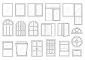 Icons set of windows types.