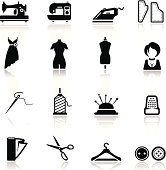 Icons set Sewing and fashion