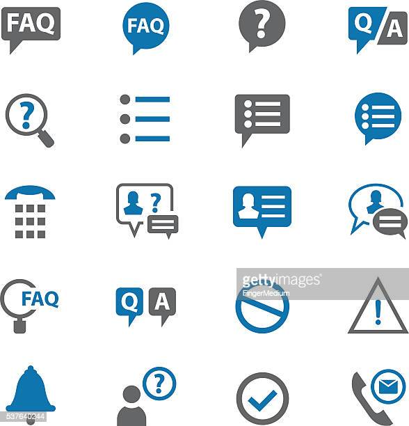 faq icons set - closing stock illustrations, clip art, cartoons, & icons