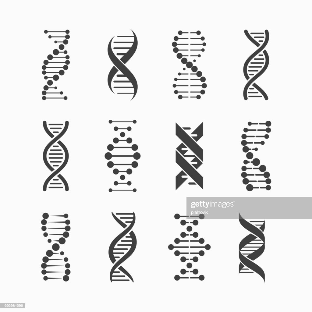 DNA icons set