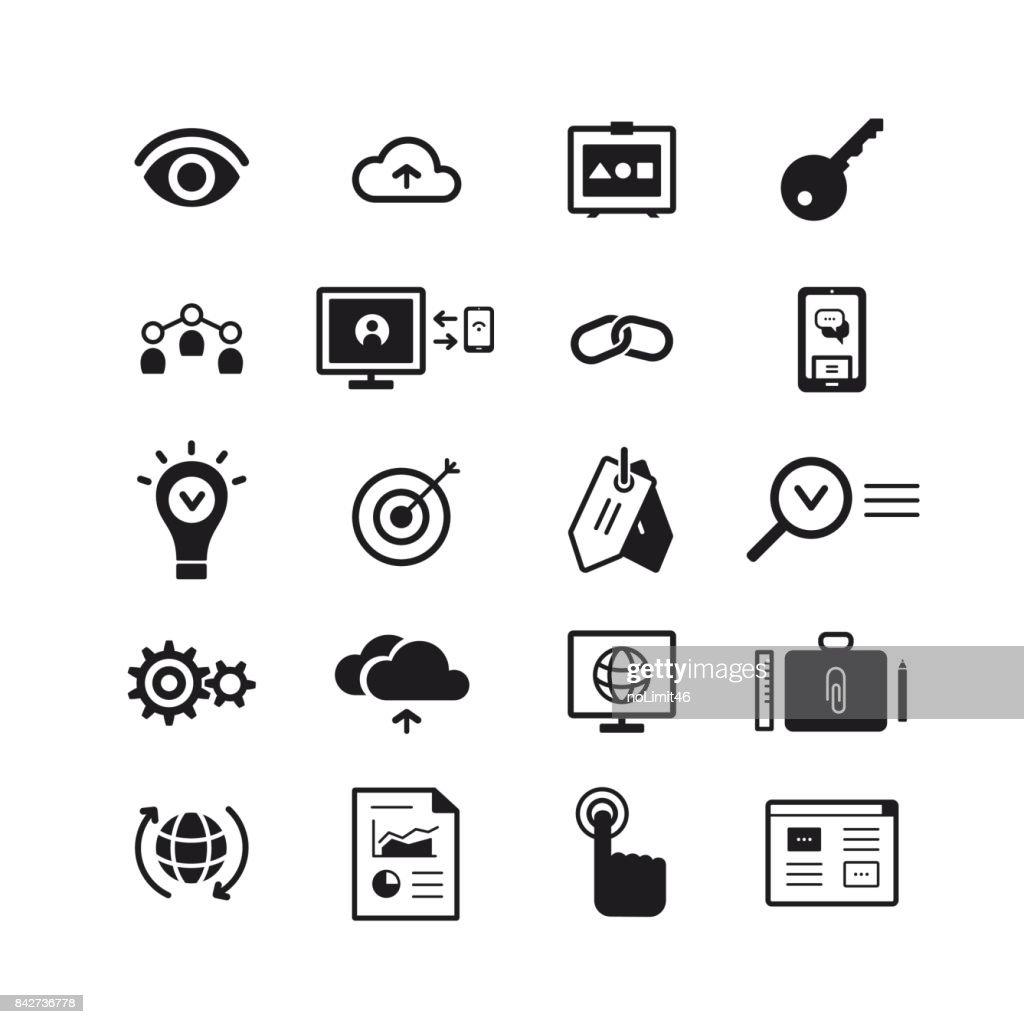 SEO icons set. Vector illustration