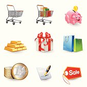 Icons - Shopping 3D series