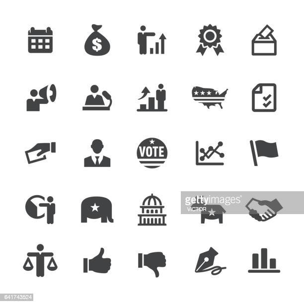 usa icons - smart series - us republican party stock illustrations, clip art, cartoons, & icons