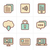 Icons Style  Website Icons Set, Vector Design
