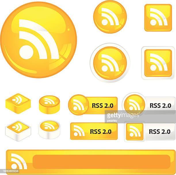 rss アイコン - シンジケーション点のイラスト素材/クリップアート素材/マンガ素材/アイコン素材