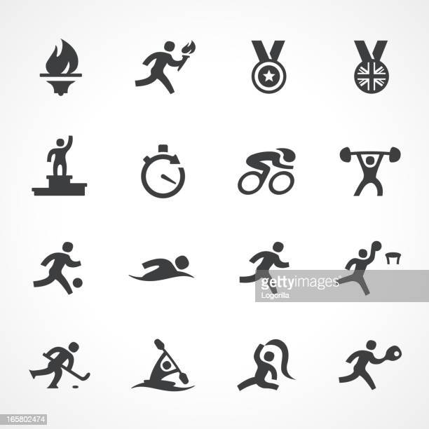 . icons - the olympic games stock illustrations