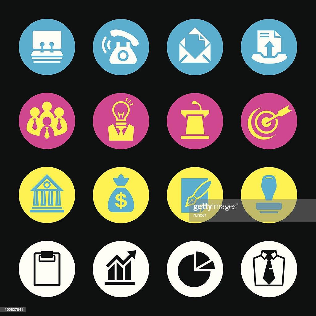 CMYK Icons (Business & Marketing) : stock illustration